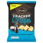 Jacobs Cracker Crisps Sea Salt And Balsamic Vinegar 150g