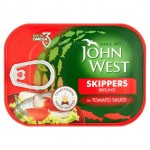 John West Smoked Skippers In Tomato 106g