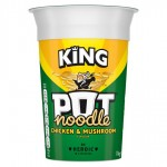 King Pot Noodle Chicken and Mushroom 114g