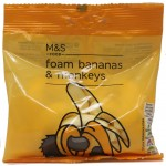 Marks and Spencer Foam Bananas and Monkeys 65g