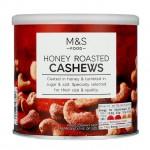 Marks and Spencer Honey Roasted Cashews 300g tub