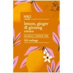 Marks and Spencer Lemon Ginger and Ginseng Infusion 20 Teabags