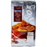 Marks and Spencer Reduced Fat Sweet and Smoky BBQ Crinkle Crisps 150g