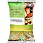 Marks and Spencer Sweet Potato Parsnip and Beetroot Hand Cooked Vegetable Crisps 100g