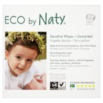 Naty Eco Baby Wipes Unscented 3 x 56 per pack