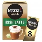 Nescafe Gold Cafe Latte Irish Cream 8 Sachets