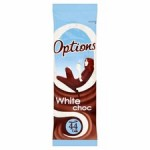 Options White Chocolate Sachet 11g