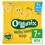 Organix 7 Month Finger Foods Organic Crunchy Sweetcorn Rings 20g