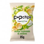 Popchips Sour Cream and Onion Popped Potato Chips 85g