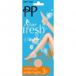 Pretty Polly Silver Fresh Comfort Top Ankle Highs Nude 3 Pairs