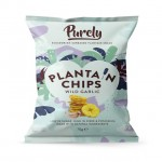 Purely Plantain Chips Wild Garlic 75g