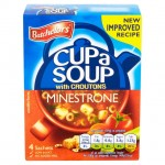Retail Pack Batchelors Cup A Soup with Croutons Minestrone 9 x 4 Sachet Packs