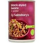 Sainsburys Black Eyed Beans In Water 400g