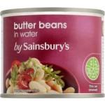 Sainsburys Butter Beans In Water 215g