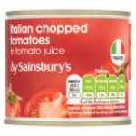 Sainsburys Chopped Tomatoes 227g
