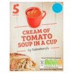 Sainsburys Cream of Tomato Soup in a Cup 5 Sachets