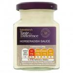 Sainsburys Creamy Horseradish Sauce Taste the Difference 180g