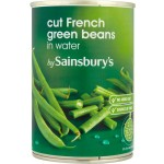 Sainsburys Cut French Green Beans in Water 400g
