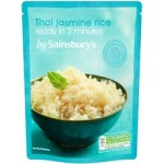 Sainsburys Microwaveable Thai Jasmine Rice 250g