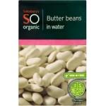 Sainsburys So Organic Butter Beans 380g carton