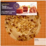 Sainsburys Taste the Difference Coffee and Walnut Cake 410g