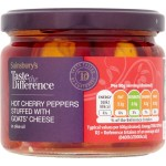 Sainsburys Taste the Difference Hot Cherry Peppers Stuffed with Goats Cheese 290g