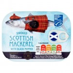 Sainsburys Taste the Difference Smoked Scottish Mackerel with Black Pepper 110g