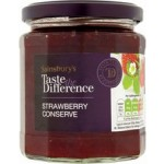 Sainsburys Taste the Difference Strawberry Conserve 340g