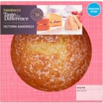 Sainsburys Taste the Difference Victoria Sponge Cake 5 Inch