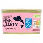 Sainsburys Wild Pacific Pink Salmon 212g