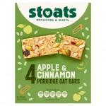 Stoats Apple And Cinnamon Porridge Bars 4X50g