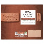 Tesco Bourbon Cream Biscuits 296G