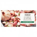Tesco Garlic And Thyme Stock Pot 4 Pack 112G
