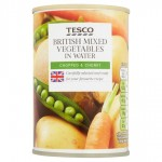 Tesco Mixed Vegetables in Water 300g