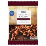 Tesco Unsalted Mixed Nuts and Raisins 500g