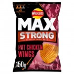 Walkers Max Strong Hot Chicken Wings Crisps 150g