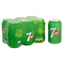 7 Up Regular 6 x 330ml Cans
