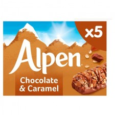 Alpen Caramel And Chocolate Bars 5 Pack