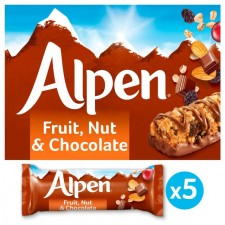 Alpen Fruit and Nut With Chocolate Cereal Bar 5x29g