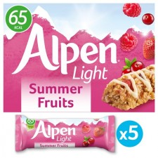 Alpen Light Summer Fruits Cereal Bar 5pk