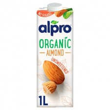 Alpro Organic Unsweetened Almond UHT Drink 1 Litre