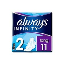 Always Infinity Long Sanitary Towels with Wings 11 per pack