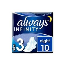 Always Infinity Night Sanitary Towels with Wings 10 per pack