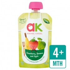 Annabel Karmel Organic Strawberry Banana Apple Puree 100g