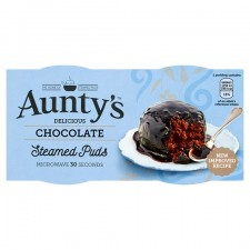 Auntys Chocolate Puddings 2x95g