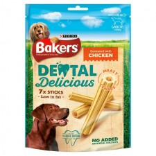 Bakers Dental Delicious Chicken Large Dog 7 Pack
