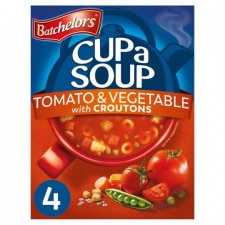 Batchelors Cup A Soup with Croutons Tomato and Vegetable 4 sachet