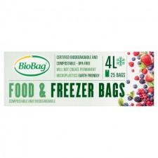 BioBag 4L Compostable Food and Freezer Bags 25 per pack