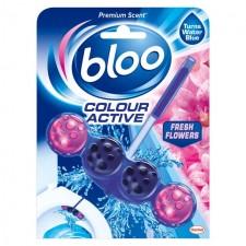 Bloo Colour Active Fresh Flowers Toilet Block 50G