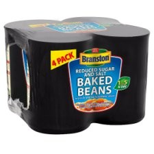 Branston Reduced Sugar and Salt Baked Beans In Tomato Sauce 4x410g